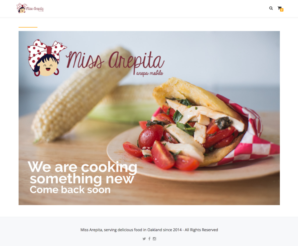 Miss Arepita website